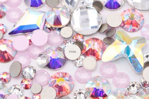 Swarovski Mixed Colour & Shape Pack April Birthstone Collection 155pcs